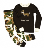 Boys LazyOne Young Buck PJ set with long sleeves